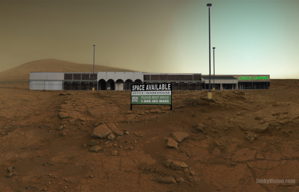 Vacant strip mall spotted on Mars