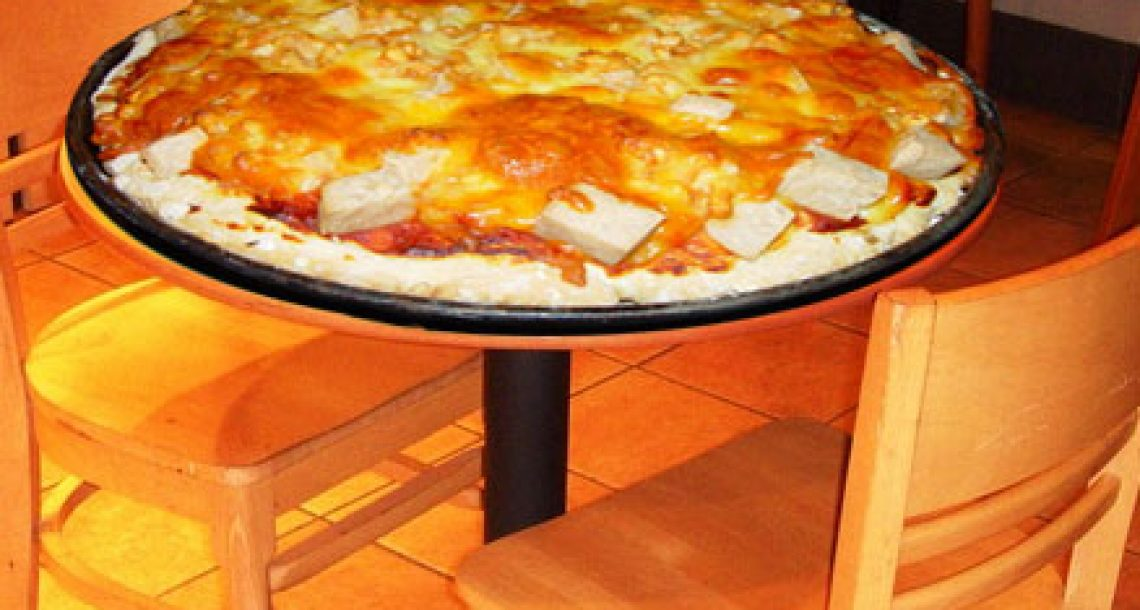 "Pizza Hovel unleashes 36-pound ""Cholesterol Bomb"""