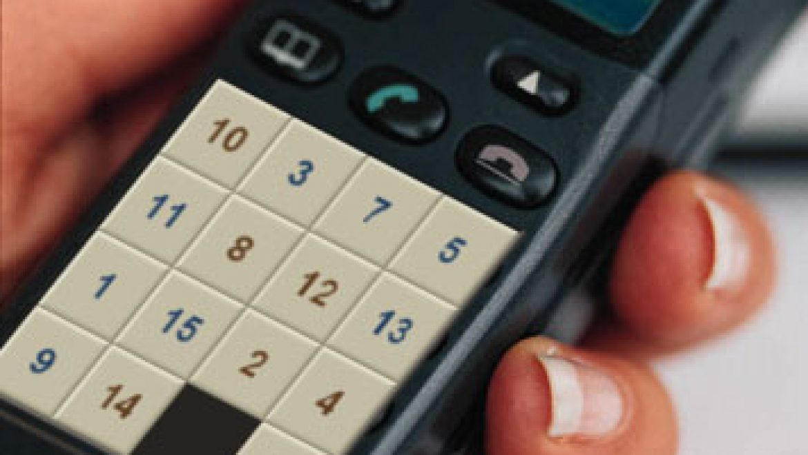 Slide puzzle phone requires caller to solve first