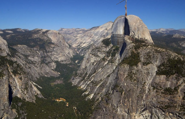 Yosemite's Half Dome restored to Three-Quarter Dome