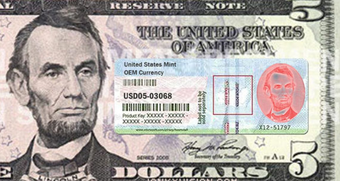 Redesigned $5 bill features authentication key
