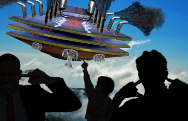 Extraterrestrial rednecks antagonize locals with Monster UFO