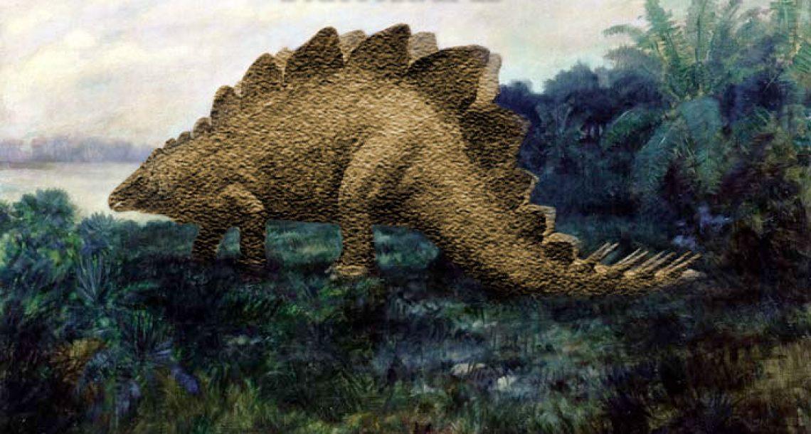 Stuccosaurus fossil restored