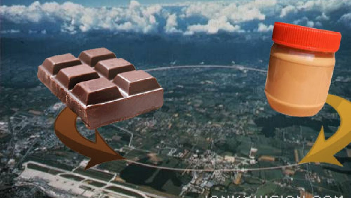 Massive particle collider to be tested with peanut butter, chocolate