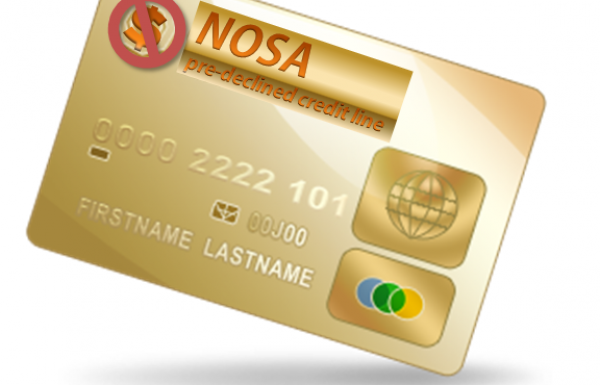 Nosa to offer pre-declined credit cards