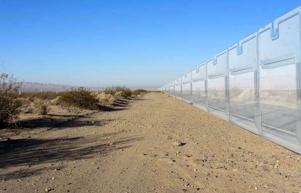 New border wall to be made of indestructible plastic packaging