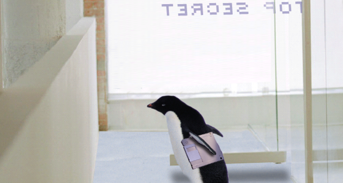 Penguin secret agent only breaks into facilities built on pack ice