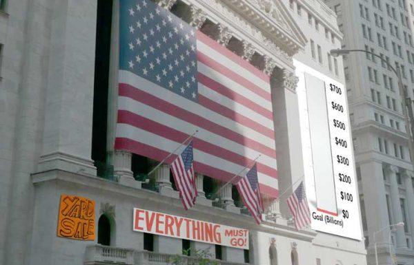Wall Street yard sale falls short of $700 billion goal