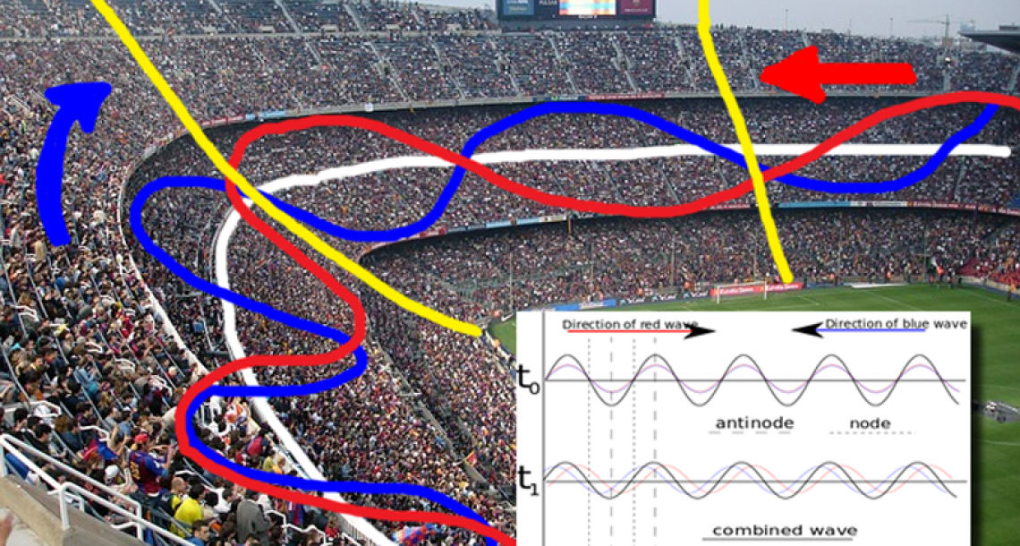 Stadium dimensions result in standing wave