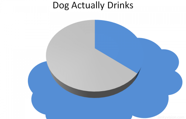 Percentage of Water Dog Actually Drinks (Chart)