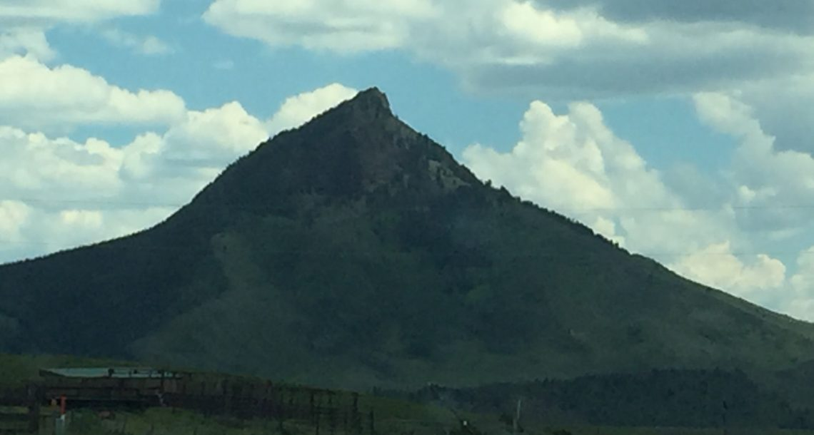 Aging mountain deflates