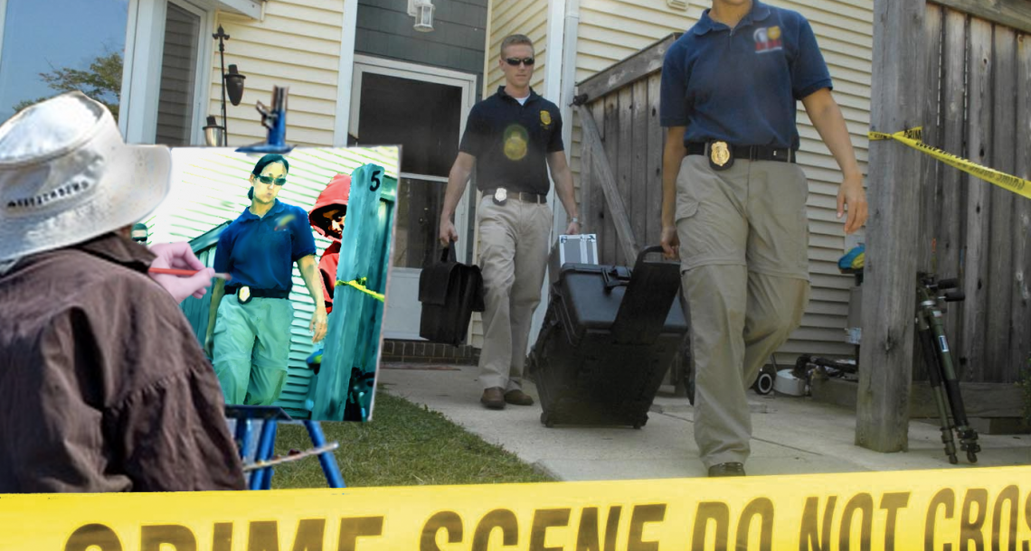Serendeputy solves cases sketching crime scenes