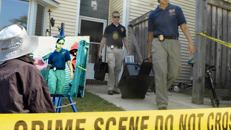Serendeputy solves cases sketching crime scenes